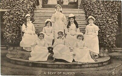 TUCK LITTLE NURSES.   A BEVY OF NURSES Pu Pontypridd 1905 • 3.50£
