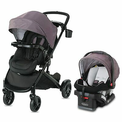 Graco Modes2Grow Travel System In Kinley W/ Snuglock 35 Infant Car Seat And Base • 258.07£