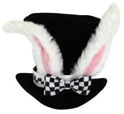 £11.47 • Buy Alice In Wonderland White Rabbit Top Hat Adult Costume Ears Bunny Mad Hatter NEW