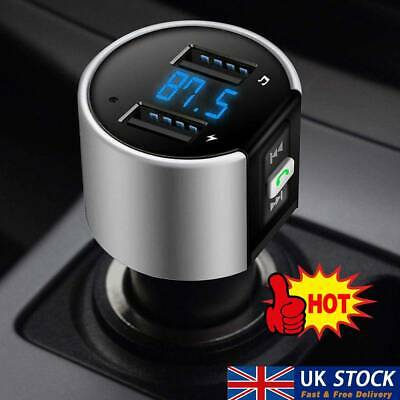 Wireless Bluetooth Car FM Transmitter MP3 Player 2 USB Charger Handsfree Kit . • 5.49£