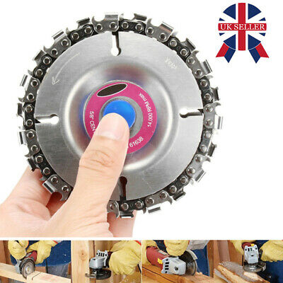 4'' Angle Grinder Disc 22 Tooth Chain Saw For Wood Carving Culpting Plastic Tool • 3.99£
