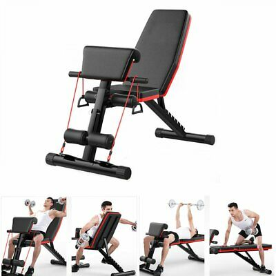 Folding Adjustable Weight Bench Multi-functional Home Gym Exercise Fitness Bench • 59.85£