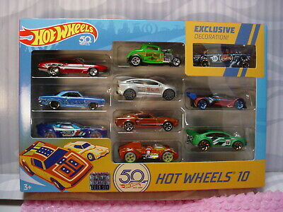 $49.55 • Buy 2018 Hot Wheels RLC 50th Anniversary '55 GASSER Exclusive 10 Pack Amazon Blue
