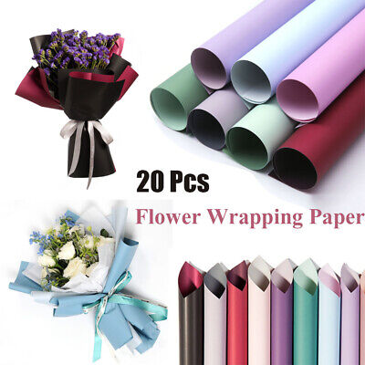 DIY 20Pcs Flower Packaging Paper Frosted Florist Wrapping Paper Bouquet Tools • 5.79£