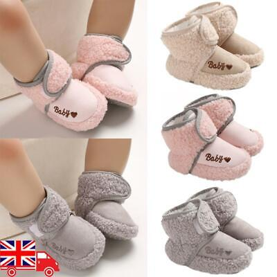 UK Infant Baby Girls Boys Toddler Anti-slip Warm Slippers Socks Crib Shoes Boots • 7.09£