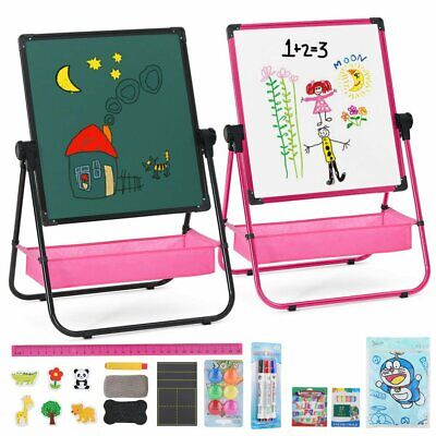 Double Sided Black&White Board Table Easel W Magnetic Letters Kids Educative Toy • 25.99£