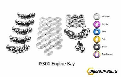 $ CDN382.26 • Buy Dress Up Bolts IS300 Altezza 98-05 2JZ-GE Titanium Full Engine Bay Kit Polished