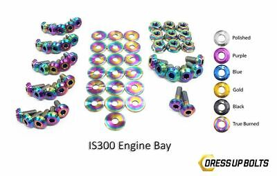 $ CDN382.26 • Buy Dress Up Bolts IS300 Altezza 98-05 2JZ-GE Titanium Full Engine Bay True Burned