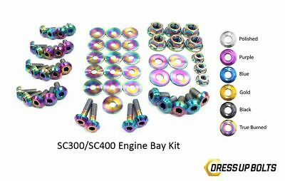 $ CDN362.49 • Buy Dress Up Bolts SC300 SC400 Soarer 92-00 2JZ-GE Titanium Engine Bay True Burned