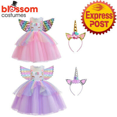 AU32.50 • Buy N166 Unicorn Tutu Dress Up Pony Fairytale Girl Book Week Costume Headband Wings