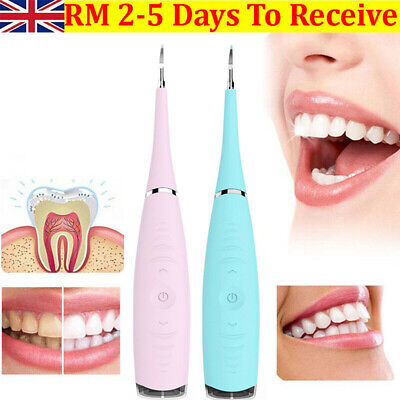 Electric Sonic Dental Scaler Plaque Tartar Calculus Remover Tooth Stains Tools • 6.79£
