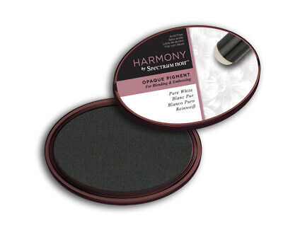 £4.99 • Buy Spectrum Noir Harmony Opaque Water Based Pigment Blendable Ink Pad - Pure White