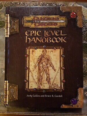 AU40 • Buy Dungeons And Dragons 'Epic Level Handbook' Hardcover - D&D 3rd Edition 2002