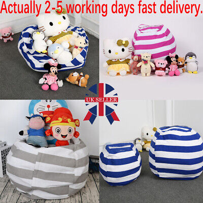 Extra Large Stuffed Animal Toy Storage Bean Bag Kids Bean Cover Soft Seat Chair. • 5.99£