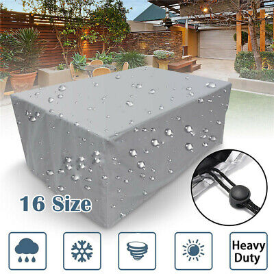Waterproof Outdoor Cover Garden Furniture Patio Rattan Table Chair Cube Set Park • 9.98£