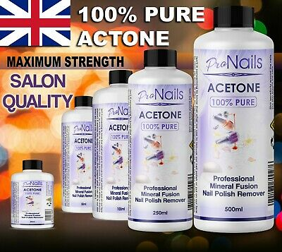 £8.99 • Buy 100% Pure Acetone Superior Quality Nail Polish Remover UV/LED GEL FAST DELIVERY