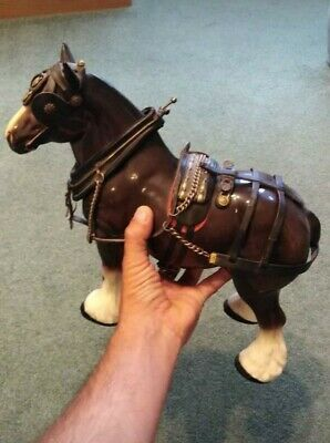 Large Vintage Shire Horse Statue. 13inch Long 12inch High • 20£