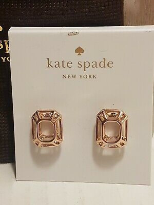 $ CDN30 • Buy Kate Spade Freeze Frame Rose Gold Earrings, NWT And Dustbag
