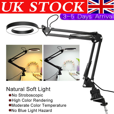 8W Adjustable Swing Arm USB LED Reading Light Clip-on Clamp Table Bed Desk Lamp • 12.99£