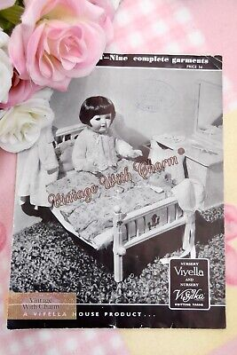 £2.99 • Buy Vintage 1930s Doll Clothes Knitting Pattern. 9 Pieces To Knit