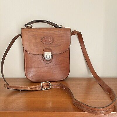 AU95 • Buy Vintage 70s 'OROTON' Tan Leather SADDLE Boho CROSS Body BAG Crossbody HANDBAG