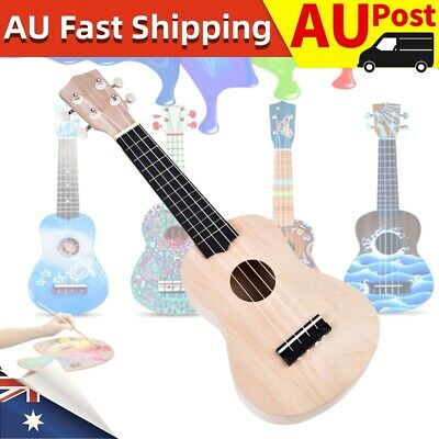 AU15.25 • Buy 21  Ukulele Basswood Guitar DIY Kit Hawaii Guitar Handwork 4 String Kids Gift