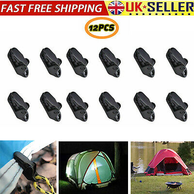 12X Awning Clamp Tarp Clips Snap Hangers Tent Camping Survival Tighten Tool Hot • 2.99£