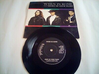 £3.49 • Buy When In Rome - Sight Of Your Tears - 7  Record Single Vgc