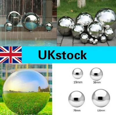 Silver Stainless Steel Mirror Sphere Hollow Ball Home Garden Ornament Decoration • 6.82£
