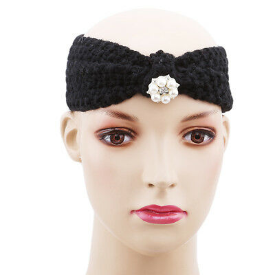 With Diamonds Knitted Hairband Baby Headband Children Wool Hair Accessories Y2 • 2.36£