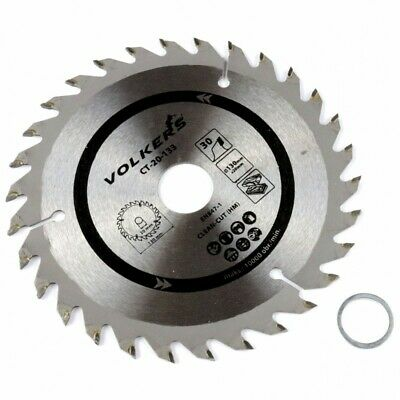 30T Genuine Volkers 130x20mm / 130x16mm Circular Saw Blade CT-20-133 Fast-Cut HM • 7.68£