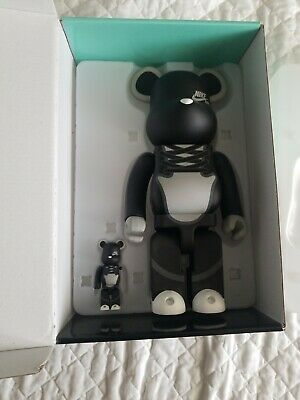 $315 • Buy 🔥BE@RBRICK NIKE SB BLACK 100% & 400% Set MEDICOM TOY Bearbrick Black Preowned