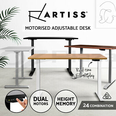 AU559.90 • Buy Artiss Standing Desk Electric Height Adjustable Sit Stand Office Computer Table