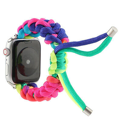 AU16.99 • Buy Nylon Knit Handmade Strap Watch Band For Apple Watch Series 5 4 3 2 1 IWatch