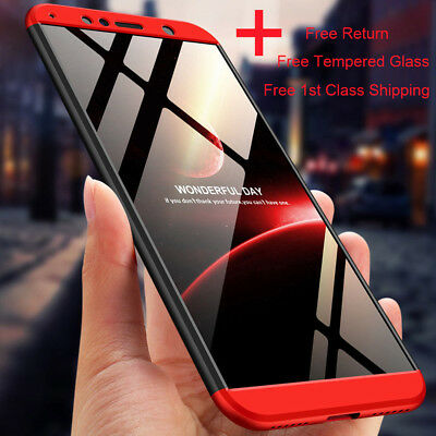 360° Shockproof Case Cover For Huawei Y6 Y7 2018 Y9 Prime 2019 +Tempered Glass • 4.96£
