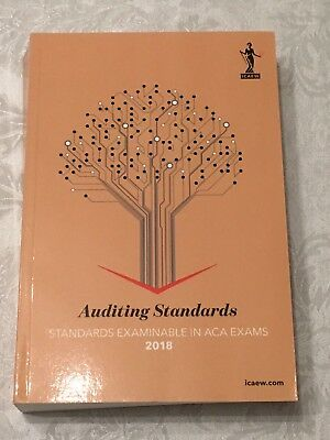Icaew Auditing Standards 2018 Book (Corporate Reporting) ACA Brand New • 14.99£
