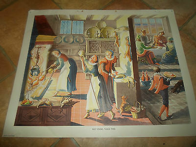 Busy Cooks, Tudor Times (Vintage Retro) ~ Macmillan History Picture #67 • 14.99£