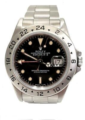 $ CDN9006.65 • Buy 40mm ROLEX EXPLORER II DATE STAINLESS STEEL SPORTS WATCH RED GMT HAND 16570