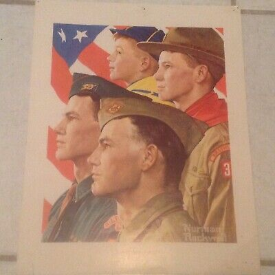 $ CDN18.20 • Buy Norman Rockwell Boy Scout Print GROWTH OF A LEADER 1966, USED**