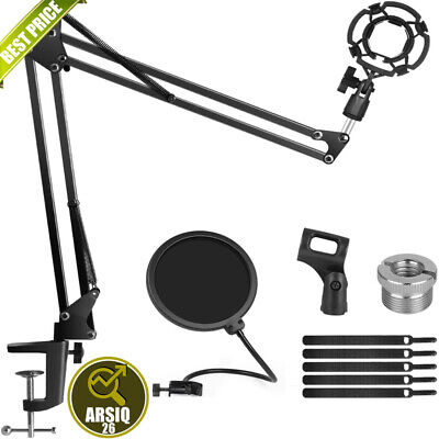 £16.99 • Buy Microphone Arm Stand For Blue Yeti Snowball Microphone Mic Clip Adjustable Boom