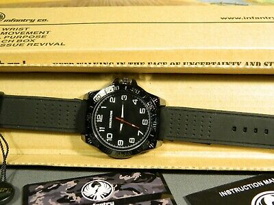 Men's Watch Infantry Watch Co. IF-011-BLK-R  INFILTRATOR  WHITE #s, RUBBER BAND • 3.67£