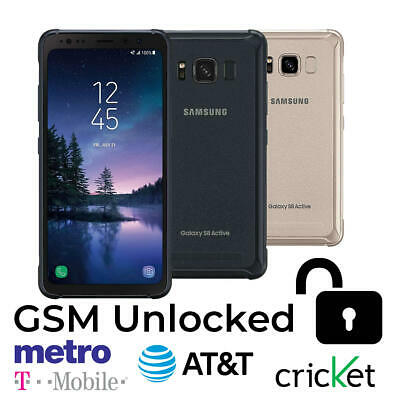 $ CDN200.03 • Buy Samsung Galaxy S8 Active SM-G892A - 64GB (GSM Unlocked) Smartphone Gray / Gold