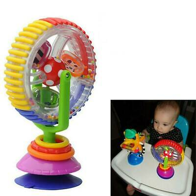 Baby Kid Infant Toys Rainbow Ferris Wheel Rattle Clanking Suction High Chair Toy • 5.69£