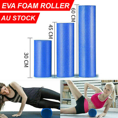 AU21.99 • Buy EVA Yoga Foam Roller Physio Back GYM Home Training Pilates Back Exercise Massage