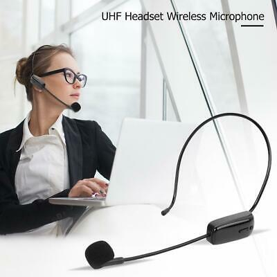 UHF Wireless Microphone Headset W/ Receiver For Meeting Teaching Voice Amplifier • 13.99£