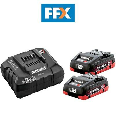 £158.83 • Buy Metabo 685191000 2 X 18V 4.0Ah LiHD Batteries And ASC55 Charger Ultra M Tech