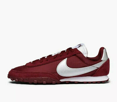 Nike Waffle Racer UK Size 8 Men's Trainers Leather Suede Burgundy Brand New • 59.99£