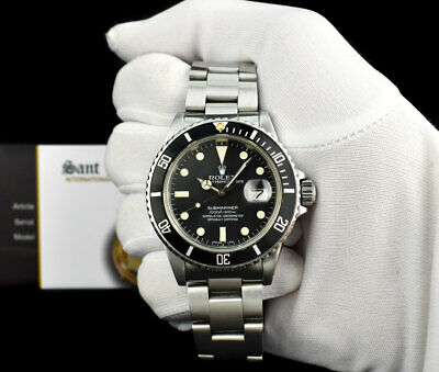 $ CDN12895.29 • Buy ROLEX - Mens Vintage Stainless Steel Submariner Black Dial 16610 - SANT BLANC