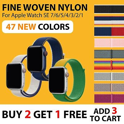 AU7.65 • Buy Sport Nylon Woven Loop Strap IWatch Band 38 42 For Apple Watch Series 5 4 3 2 1