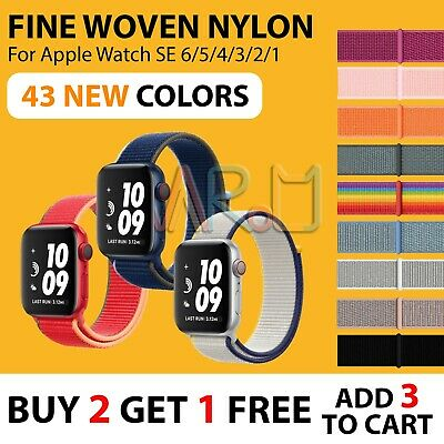 AU6.75 • Buy 【Woven Nylon Band】Apple Watch IWatch SE 6 5 4 3 2 1 Sport Strap Loop 38/40 42/44